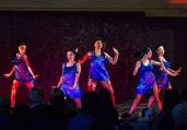MIDDLEBURY, CT. 18 February 2018-021818BS 353 - From left, Katy Wolff, Isabella Koster, Naomi Filipiak, Risa Kawaji, and Janel Wu perform a jazz routine on stage during the Westover School Dance recital at the Louise Dillingham Performing Arts Center at Westover School on Sunday afternoon. Bill Shettle Republican-American