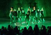 The whole Westover Dance Troupe performs a dance routine Sunday in Westover School's Dance Program concert at the school's Middlebury campus.Bill Shettle Republican-American