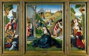 'The Seven Sorrows of the Virgin Mary' or 'The Ashwellthorpe Triptych,' ca. 1519, is part of the Paston Treasure exhibition at the Yale Center for British Art through May 27. Contributed