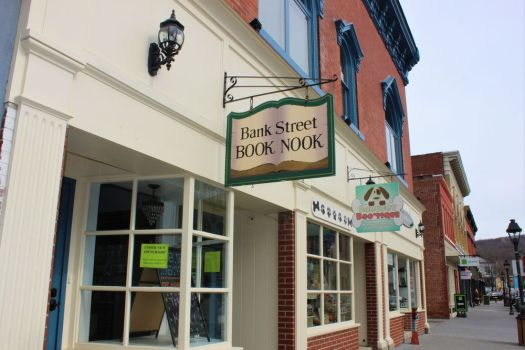 The Bank Street Book Nook, nestled between the Bank Street Theater and Barkery Bootique in New Milford's coveted historic district, is a community attraction. This bookshop was established 30 years ago, and its doors will soon reopen. Alicia Sakal/ Republican-American