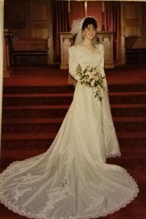 Heather Fisher was 19 on her wedding day, March 13, 1993, when a blizzard hit Torrington. Contributed