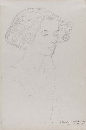 Gustav Klimt's 'Portrait of a Young Woman' is part of the Klimt and Schiele: Drawn exhibit at the Museum of Fine Arts, Boston, through May. Contributed