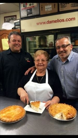 'Giuseppe DAmelio, left, Giovannina DAmelio and Gianni D'Amelio at D'Amelio's Italian Eatery in Waterbury. Contributed