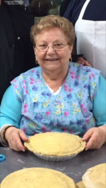 'Mama D' Giovannina D'Amelio prepares the pies at D'Amelio's Italian Eatery in Waterbury. Contributed