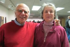 Mark Liebergall of Millerton, N.Y., one of the colony's founders , and Serena Granbery of Salisbury.
