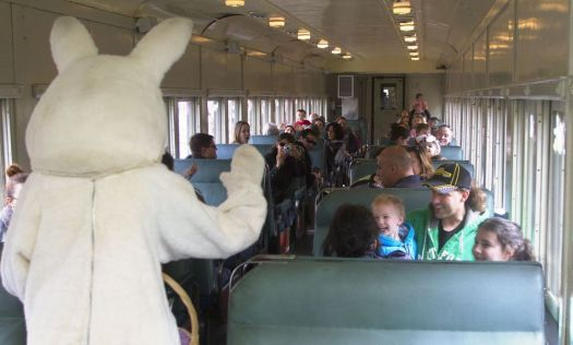 All aboard! The Easter Bunny will again hop aboard the Railroad Museum of New England's Easter Bunny Express this weekend and next.  Republican-American archives