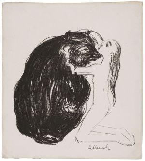9. Edvard Munch, The Woman and the Bear, 1908-09. Lithograph on wove paper mounted on wove paper. Wadsworth Atheneum Museum of Art, Bequest of Edward Gorey, 2001.13.61.