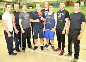 Members of the Village Restaurant team that won the Litchfield Men's Basketball League championship are, from left, Colin Dickinson, Alan Landau, Chad Dickinson, Luke Pergola, Charlie O'Neill, Billy Rea, Garrett Fancher, Spencer Albano and Jeremy Doot. John McKenna Republican-American