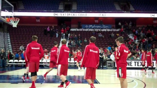 Early look at scene as Wamogo plays in state final