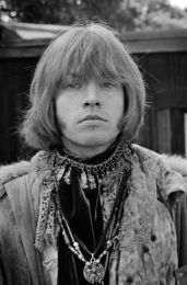 'Brian Jones Up at Monterey Pop Festival 1967' is on display at 'Rock and Revolution: Photographs by Jim Marshall' at the Mattatuck Museum in Waterbury through April 22. Contributed