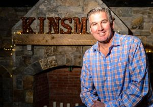 Bruce Staebler an owner and founder of Kinsmen Brewing and also partner with the on site kitchen/restaurant Sauced poses for a photo at Kinsmen Brewing on Thursday afternoon. Bill Shettle Republican-American