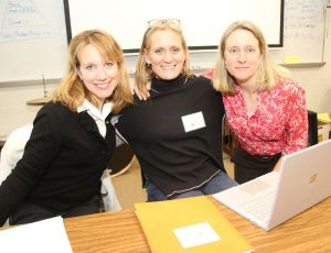 Participants in the Litchfield Education Foundation's Minds in Motion fundraiser include, from left, Parent-Teacher Organization President Caroline Wilcox, event chairwoman Kathleen Reidy and pediatrician Kate Litwin of Litchfield. John McKenna Republican-American