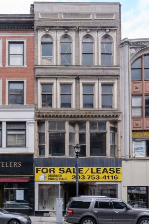 This vacant building at 105 Bank St. in Waterbury, built in 1935 is listed for $350,000 or for lease at $9.50 a square foot. It has 16,000-square-feet over three floors. Bill Shettle Republican-American