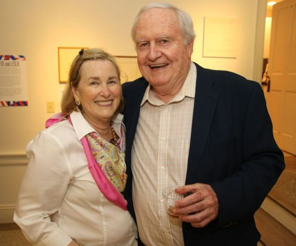 Jeff Savage of Litchfield, who has a role in the new movie, 'Chappaquiddick,' and Hitchy Rahilly of Litchfield are seen at the opening of the new exhibit at Litchfield Historical Society. John McKenna Republican-American