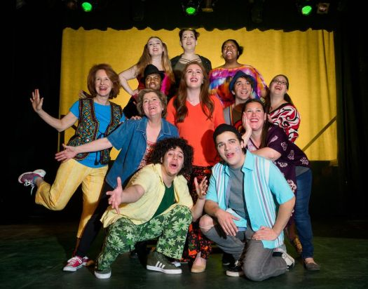 Cast of Godspell in Landmark Community Theater production at Thomaston Opera House. Contributed