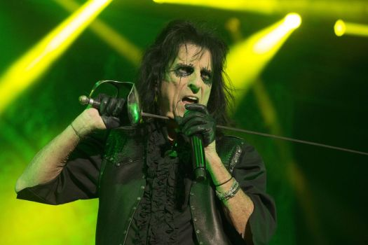 Alice Cooper performs in concert during his
