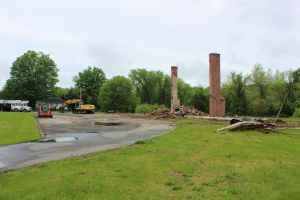 Mountain High Organics will soon build a 27,000 square foot, high-tech cold storage and distribution center at 266 Kent Road, in New Milford, where Hank's Used Furniture & Antiques once stood. Alicia Sakal/ Republican-American