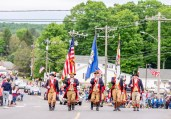 WOLCOTT, CT. 28 May 2018-052818BS352 - Hundreds line the streets honoring those lost during the 2018 Wolcott Memorial Day Parade on Monday evening. Bill Shettle Republican-American
