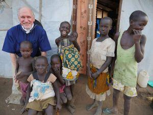 UGANDA - Palabek refugee settlement.  Lynn Monahan at work.