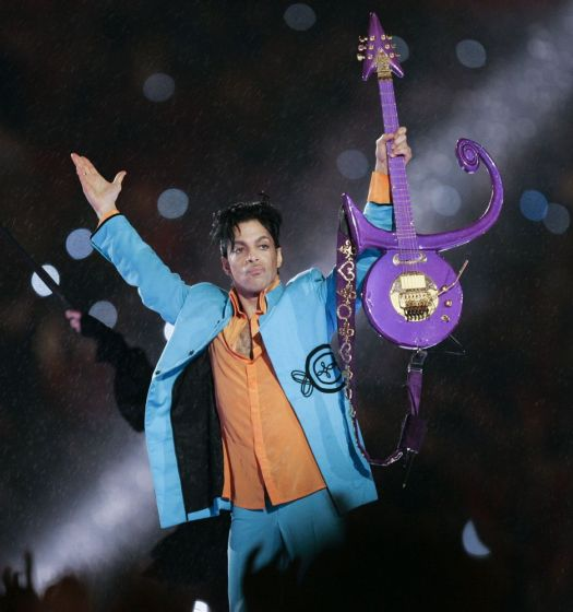 FILE - In this Feb. 4, 2007 file photo, Prince performs during halftime of the Super Bowl XLI football game in Miami. Warner Bros. Records has announced a new Prince album on what would have been the