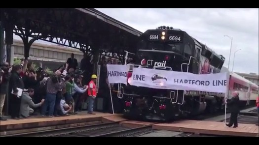 Opening day on the Hartford Line