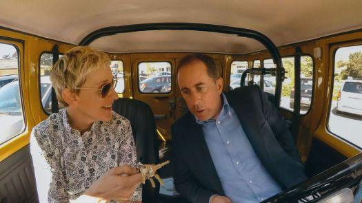Ellen DeGeneres and Jerry Seinfeld in Netflix's