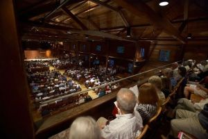 The audience at the Norfolk Chamber Music Festival in Norfolk. (Bob Handelman)