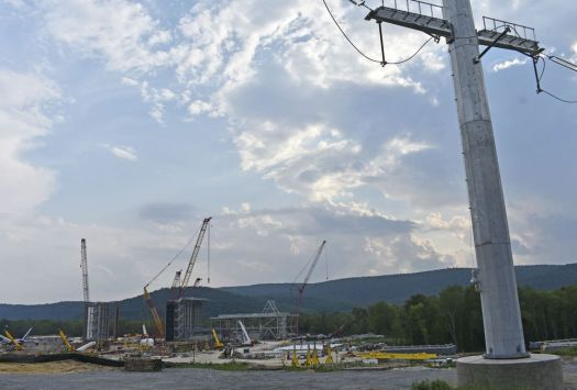 The Cricket Valley Energy Center is under construction just over the state line in Dover Plains, N.Y.. A regional task force was formed in Kent Wednesday to establish monitoring of the air, water and soil in the area before the opening of the energy plant, which is slated for 2020. Lynn Mellis Worthington Republican-American