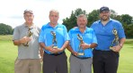 The flight champions and runners up from the 83 Republican-American golf championship, from the left, Bob Holt, second flight runner up; Bill Conlea, first flight runner up; Mike Kulla, first flight champion; Stephen Barbieri, first flight champion. (Joe Palladino/RA)
