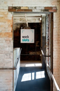 Work Slots is a new area of dedicated desk co-working spaces inside the Mad River Lofts in Winsted. It allows someone to rent desk space instead of renting an entire loft space. Jim Shannon Republican American