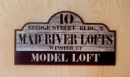 A sign for the model loft at the Mad River Lofts in Winsted. Jim Shannon Republican American