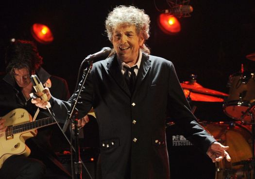 In this Jan. 12, 2012, file photo, Bob Dylan performs in Los Angeles. (AP Photo/Chris Pizzello, File)