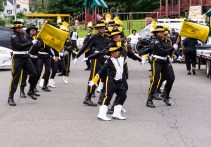 WATERBURY, CT. 20 August 2018-082018 - The BerkEley Knights Drill Team practices in precise unison their World Championship award winning routine in the parking lot of the Berkeley City Recreation Center in Waterbury on Monday evening. The Berkeley Knights were recently awarded the Albert Pete Edwards award for Best Overall Drill Team at the Drill Competition World Championships in Jacksonville, FL. Bill Shettle Republican-American