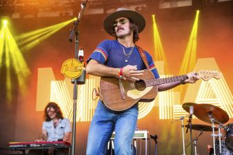 Mark Wystrach of Midland performs at the Bonnaroo Music and Arts Festival on Saturday, June 9, 2018, in Manchester, Tenn. (Photo by Amy Harris/Invision/AP)