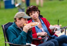 SOUTHBURY, CT. 22 September 2018-092218 - Jamie Bokanoski of Southbury regrets not getting the fried dough as she watches her husband Bart enjoy his dinner during the Southbury Celebration on the Southbury Training School Grounds in Southbury on Saturday. Bill Shettle Republican-American