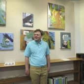 Artist John Hodgson's show, 'Audubon Reimagined,' is now on display at D.M. Hunt Library in Falls Village. Ruth Epstein Republican-American