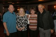 (from left) Jerry and Maureen Andolena with Dave and Barbara Lucas gathered for the during the third annual UNICO meatball contest at the Palace Theatre Tuesday evening. Francine Nido, national secretary, said this was the third year for the event with eleven local restaurants participating and two-hundred twenty-five pre-paid ticket holders along with many hungry people paying at the door. Nido stated that the funds raised during this contest will benefit local scholarships and charities. Michael Kabelka / Republican-American