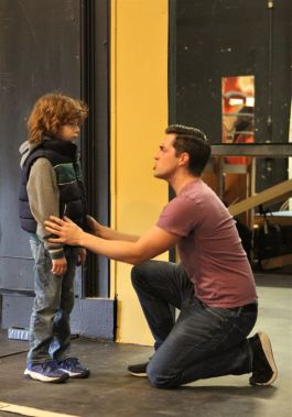 Garrison Carpenter as Tommy and RJ Vercellone as Young Tommy. (Photo by Paul Roth)