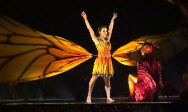 Oksana Kymenko is 'Running Woman' in the Cirque du Soleil performance of 'Luzia,' which opened June 19 in Hartford.MICHAEL CHAIKEN REPUBLICAN-AMERICAN