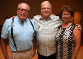 From left, Tim Wright of Goshen and Dennis and Maryann Holden of the Villages, Fla. John McKenna Photo
