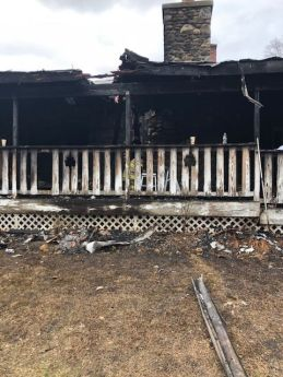 This home on Washington Road in Woodbury suffered major damage in a fire early Wednesday. Steve BighamRepublican-American