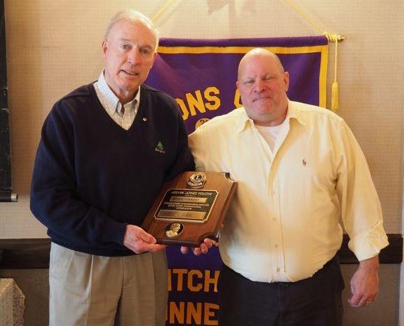 ContributedLitchfield Lions Club member Jonathan Torrant, left, receives the Melvin Jones Fellow award from Lions Club President John Bongiorno.