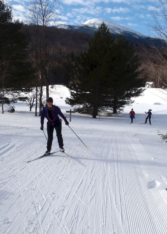 Cross country Ski areas like Great Glen Trails offer a quieter experience during Prezweek than alpine skiing venues. (Tim Jones photo)