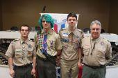From left, Jarred Gionfriddo of Troop 138, Travis Hopkins of Troop 104, Luke Demsey of Troop 92 and Don Ferretti of Troop 104