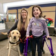 ECAD Graduate Isabella Gray with mom Jamie gray and Service Dog Taco from Plantsville.