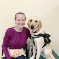 ECAD Client/Graduate Laura Scanlon with Service Dog Windy from Enfield.