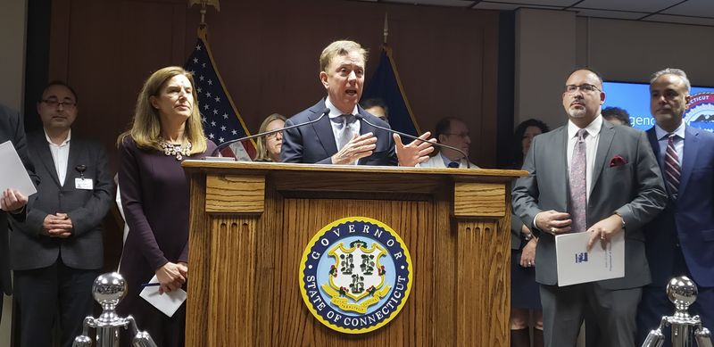 Gov. Ned Lamont outlined how the state government is preparing for a possible outbreak of the coronavirus in Connecticut during a news briefing Wednesday at the state Emergency Operations Center.