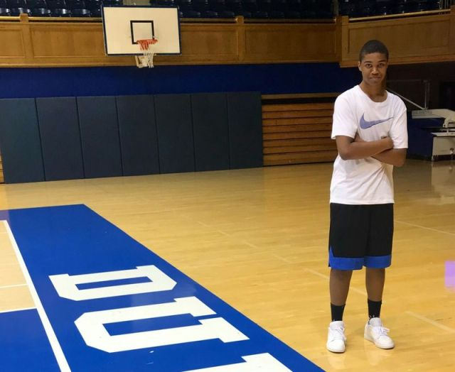 contributedWaterbury Career Academy student Jaden Bracey poses on the basketball court at Duke University. Bracey was diagnosed with a rare cancer last September. The city's Board of Parks Commissioners approved the use of Waterville Park for a fundraising event on May 30.