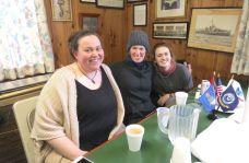 Catherine McCollian of Millerton, N.Y, Cathleen McCollian of Sharon and Finn Koran of Atlanta