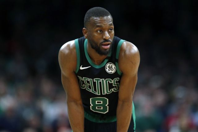 Boston Celtics' Kemba Walker plays against the Oklahoma City Thunder during the second half of an NBA basketball game, Sunday, March, 8, 2020, in Boston. (AP Photo/Michael Dwyer)